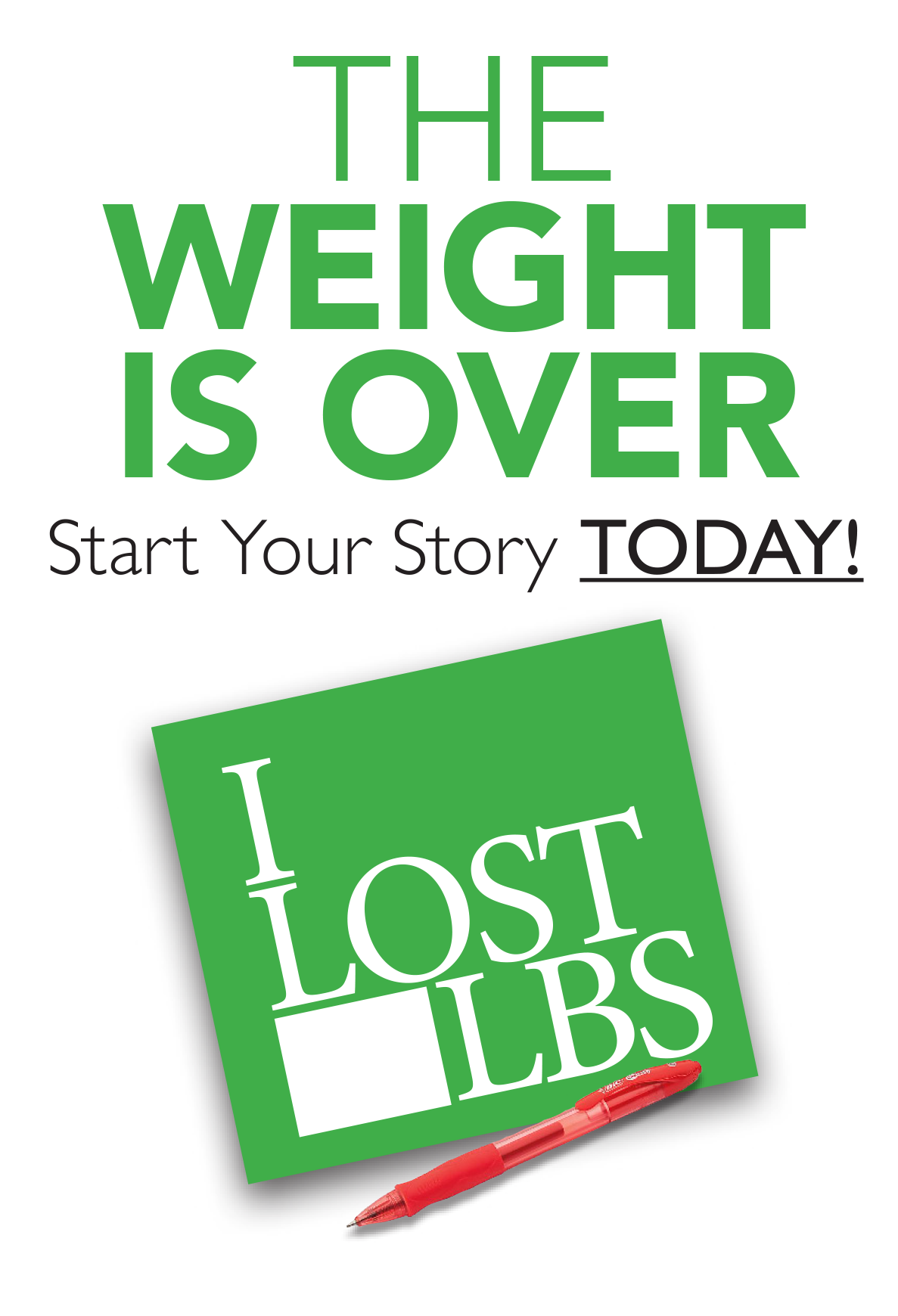 The weight is over. Start your story today.